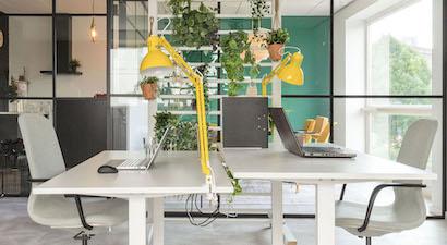 Een flexplek in de flexibele kantoorruimte van Flexy Workspace