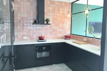 Keuken bij een flexibele werkplek