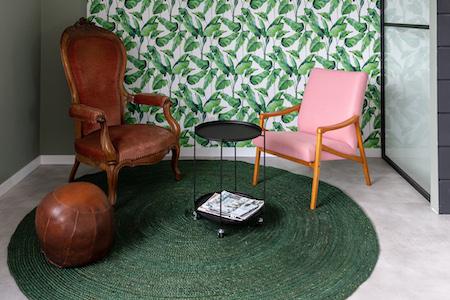 Loungeruimte bij een flexibele werkplek